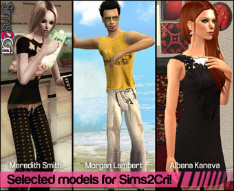 simscri next model contest selected